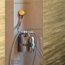 Dusch-Filter –  Aktivkohle – Edelstahl<br>auch für Badewasser [DF1]