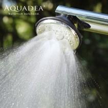 2. Wahl: Aquadea Kristall Wirbel Dusche 7 Silber<p>mit zentraler Berkristall oder Rosenquarz Wirbelkammer