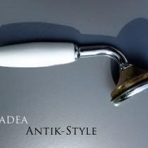 Antik-Dusch-Griff – optional – <br>Porzellan und Metall