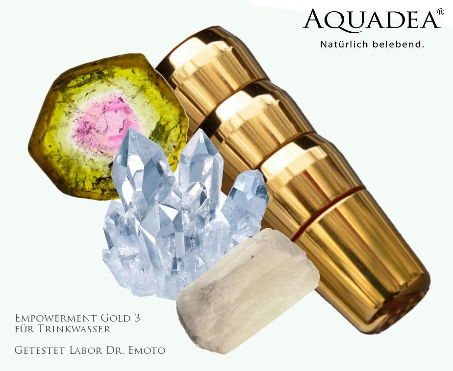 Kristall-Wasser Wirbler von Aquadea - getestet im Labor Dr. Emoto