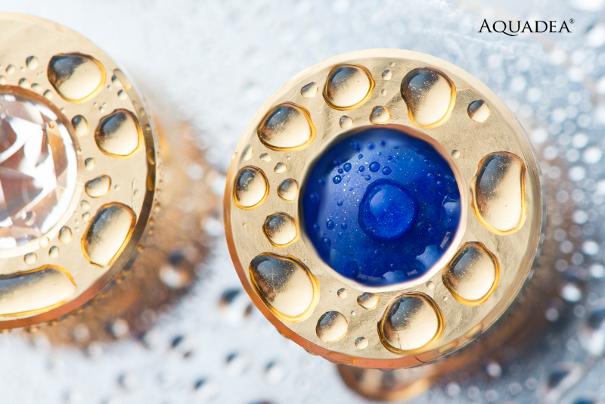 Lapis Aquadea Kristall-Kammer Gold