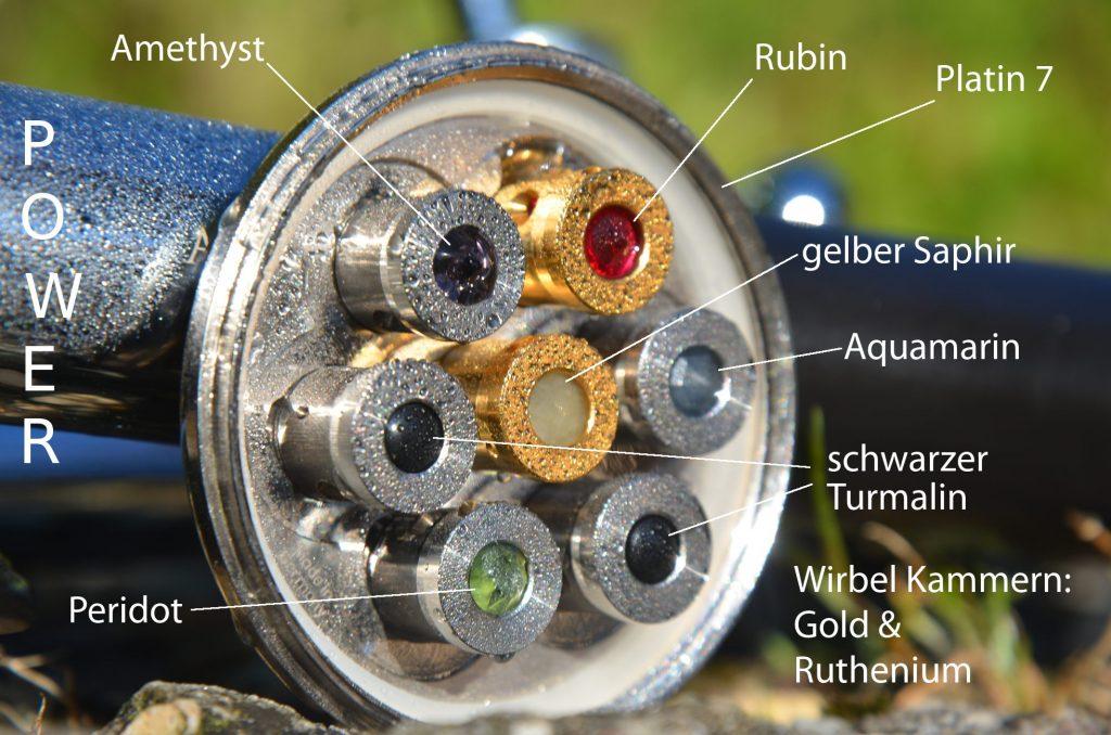 Aquadea Kristall Wirbel Dusche Power Platin